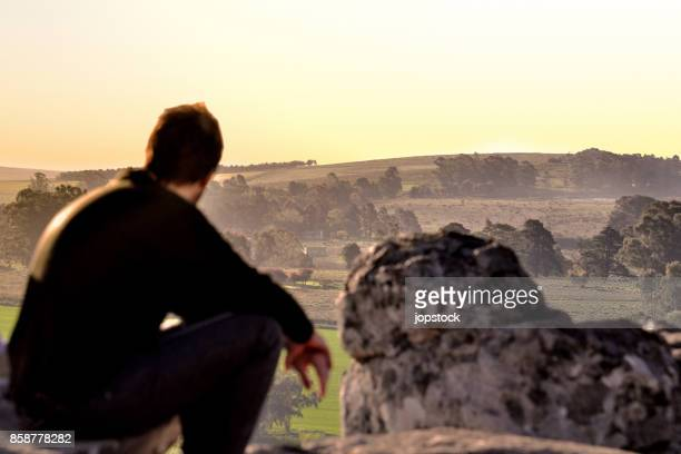 Man watching the skyline in Tandil