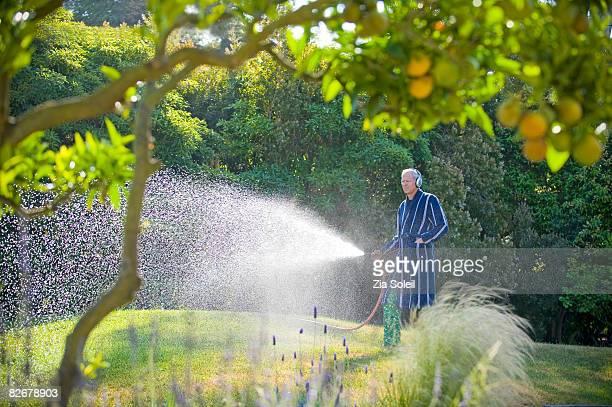 Man watering t