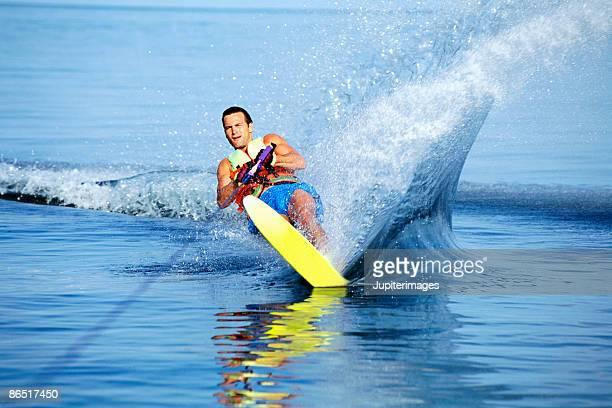 Man water-skiing