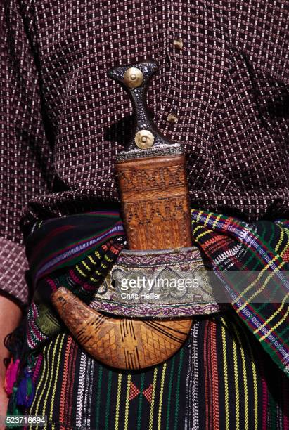 man wearing a jambiya - yemen stock pictures, royalty-free photos & images
