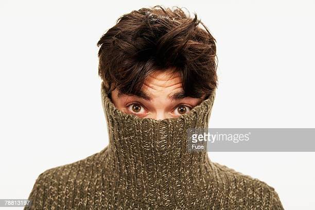 man wearing a turtleneck - mock turtleneck stock pictures, royalty-free photos & images