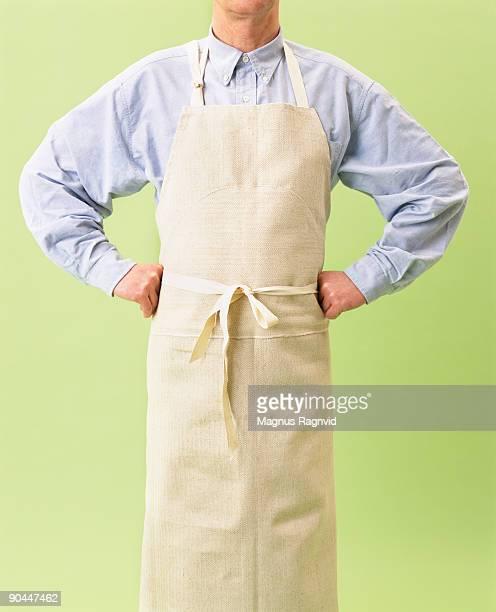 A man wearing an apron Sweden.