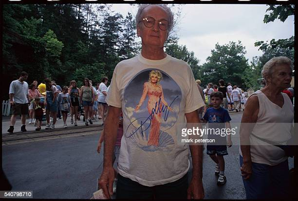 Man Wearing Dolly Parton TShirt at Dollywood