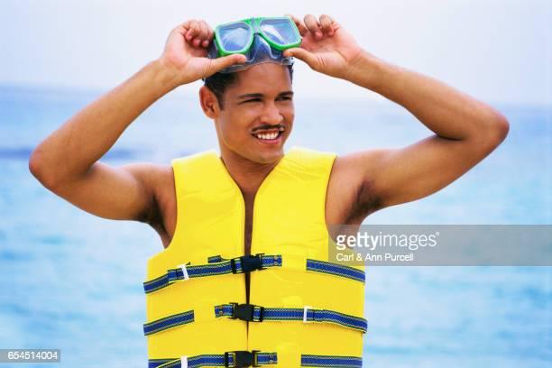 Man Wearing Goggles
