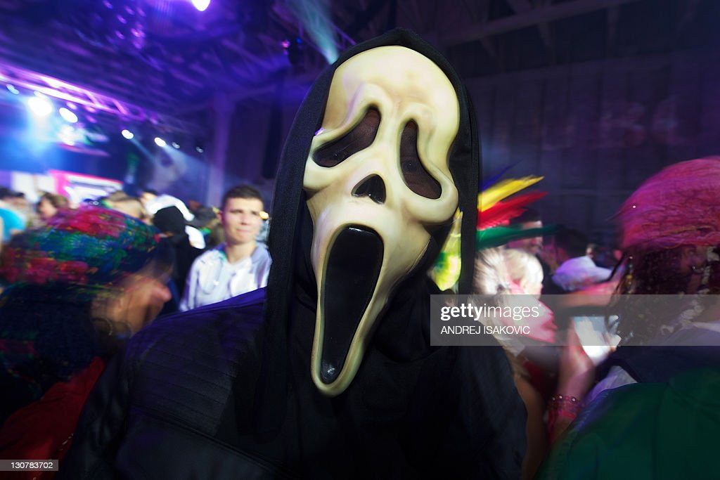 A man wearing Halloween costume poses du  sc 1 st  Getty Images & A man wearing Halloween costume poses du Pictures | Getty Images