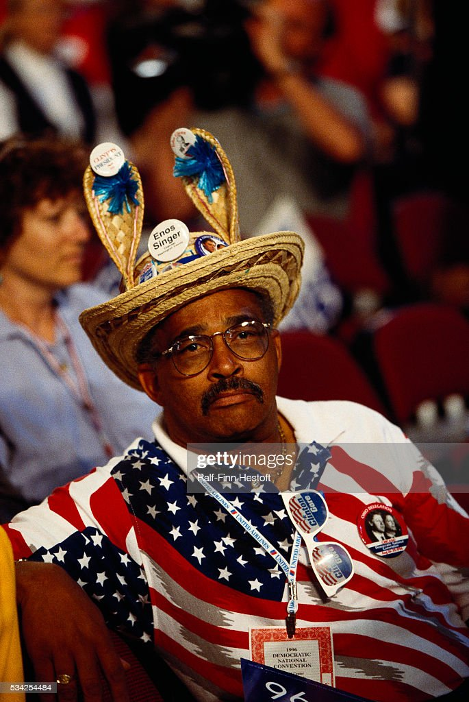 Democratic Supporter Wearing Donkey Shaped Hat Pictures Getty Images