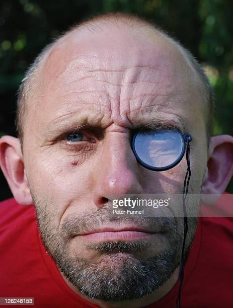Man wearing monocle