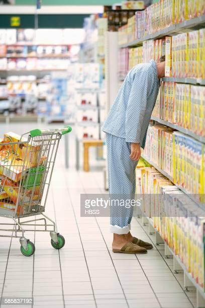 Man wearing pajamas