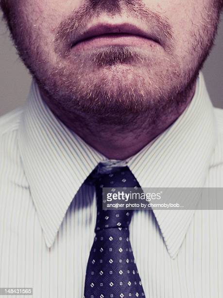 Man wearing shirt and tie