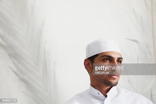 Man Wearing Skullcap
