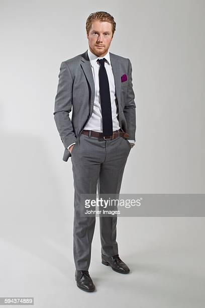 Man wearing suit, studio shot