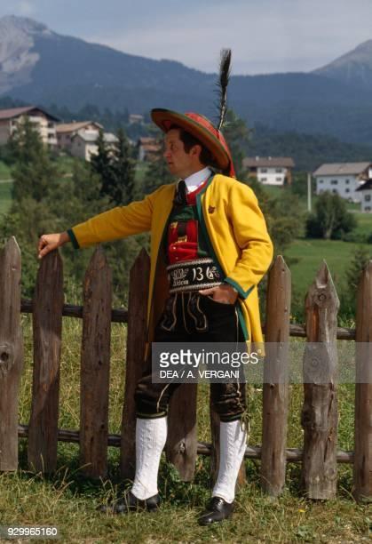 Man wearing traditional clothes Aldino TrentinoAlto Adige Italy