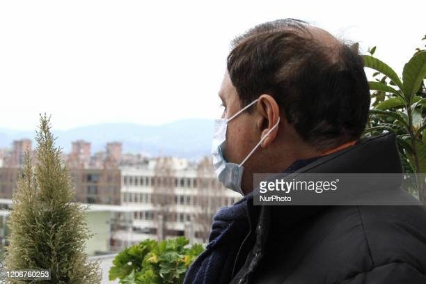 A man wears a protective respiratory mask in Turin Italy on March 12 after the Italian prime minister Giuseppe Conte ordered on Wednesday night the...