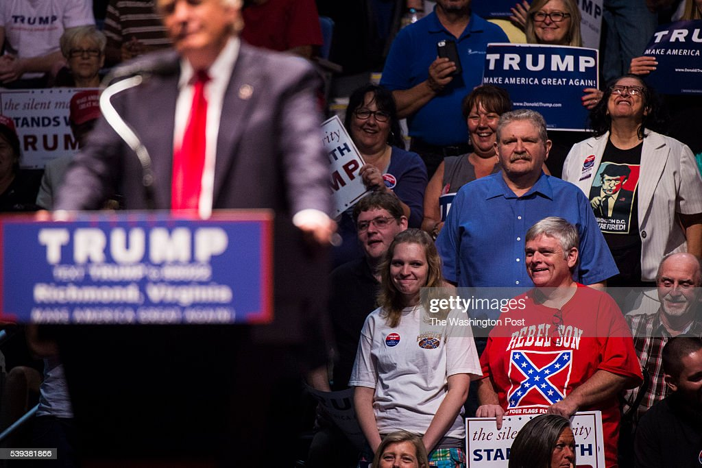 Donald Trump on campaign trail. : News Photo