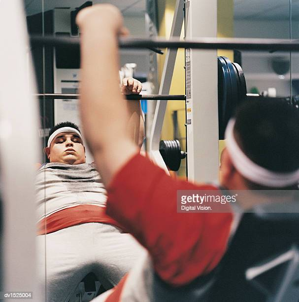 man weight training in a gym - struggle stock pictures, royalty-free photos & images