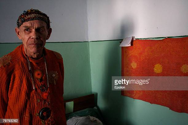 A man who calls himself 'Undying tsar number 7' stands in mental hospital number 2 January 28 2008 in Kostyrino Russia The head doctor of the...