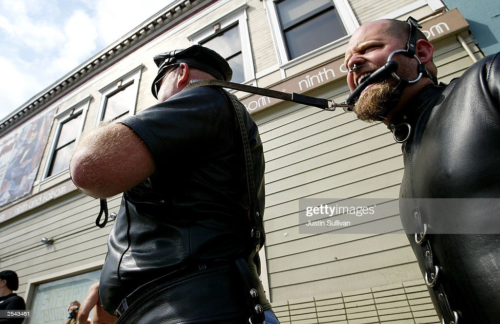 Gay leather slave