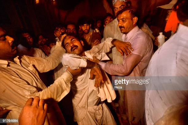 A man who has been arrested as a suspicion of robbery during the annual celebration of Urs of Lal Shabaz Qalandar a 13th century Sufi Master...