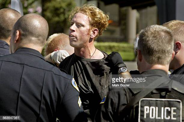 –A man who identified himself as Michael Patrick Ohara was taken into custody by Anaheim Police after barricading himself inside the Hilgenfeld...
