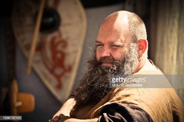 Man with a beard Festival of Slavs and Vikings Centre of Slavs and Vikings JomsborgVineta Wolin island Poland Slavic and Viking civilisation 9th11th...