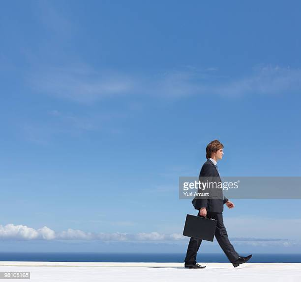 Man with a briefcase walking