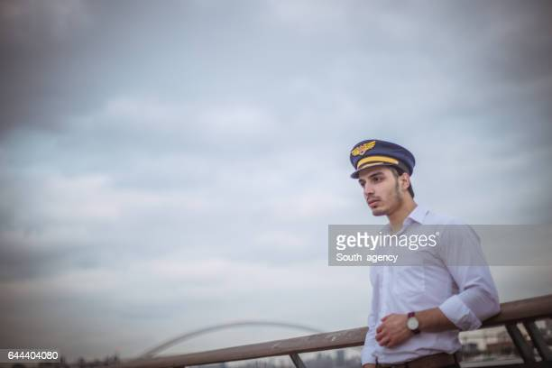 Man with a captain's hat