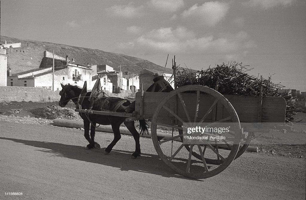 Man With A Cart : News Photo