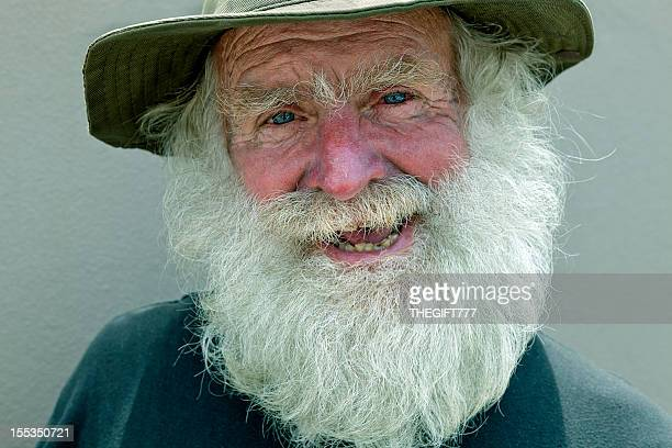 Man with a large white beard