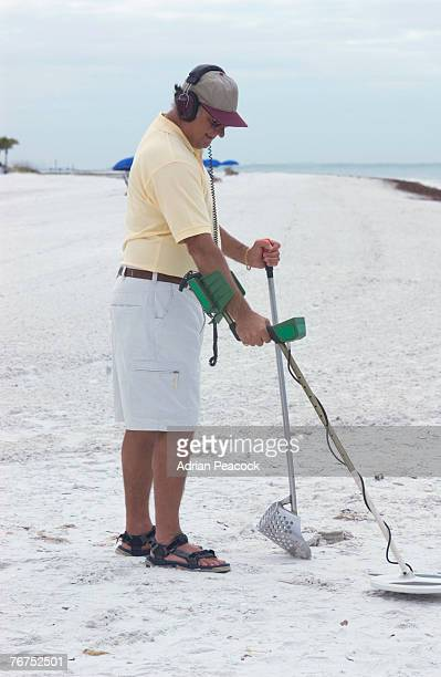 Man with a metal detector