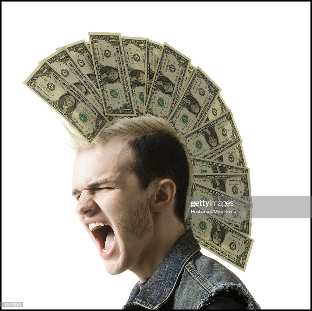 man with a mohawk : Stock Photo