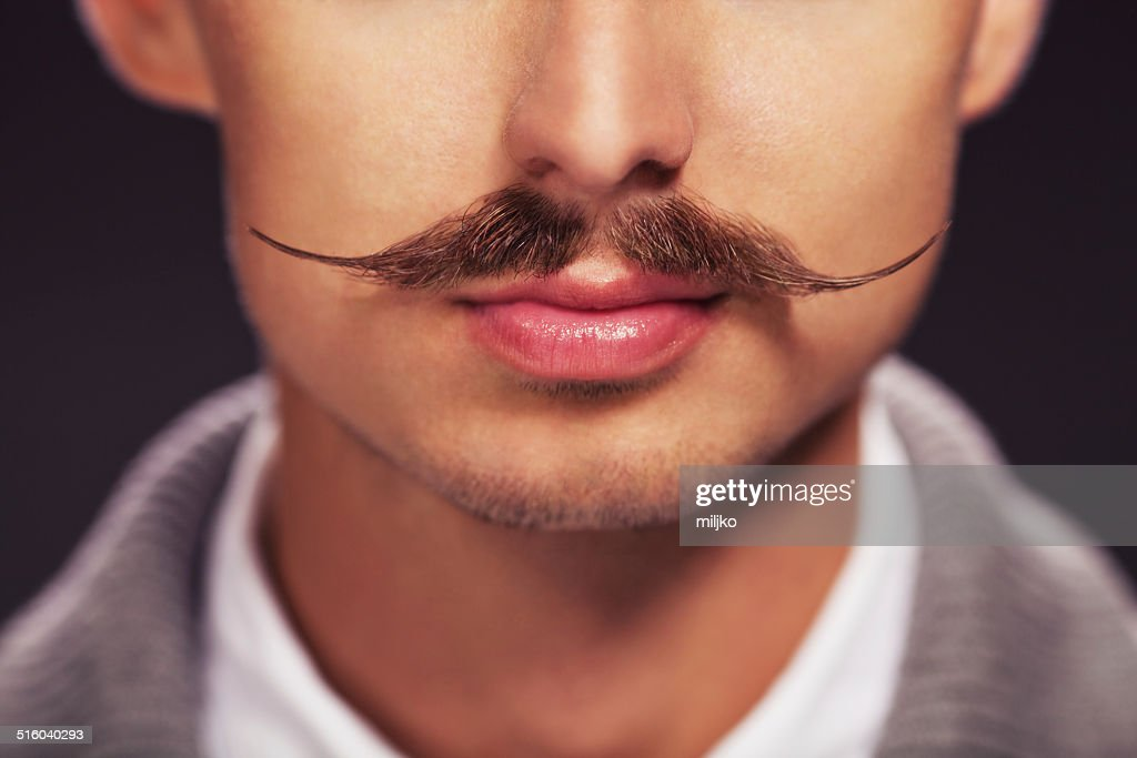 Man with a mustache : Stock Photo