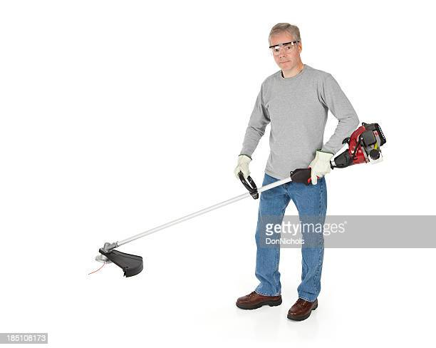 Man With a Weed Trimmer
