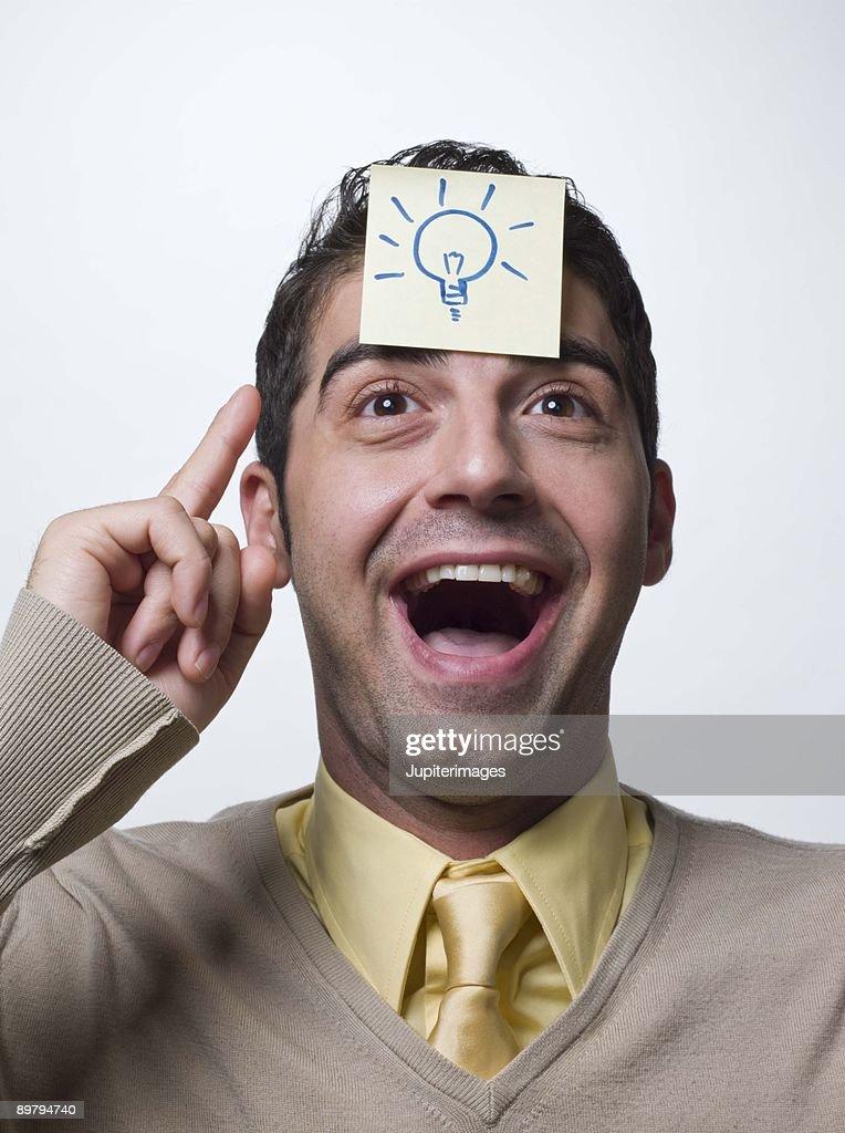 Man with an idea : Stock Photo
