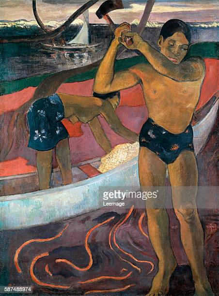 Man with ax - Painting by Paul Gauguin , 1891 - Private collection