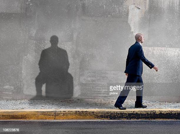 man with baggage - restraining stock pictures, royalty-free photos & images