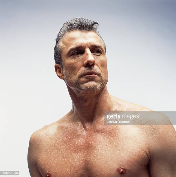 Man with bare chest