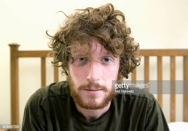 Man with Beard and Disheveled Hair