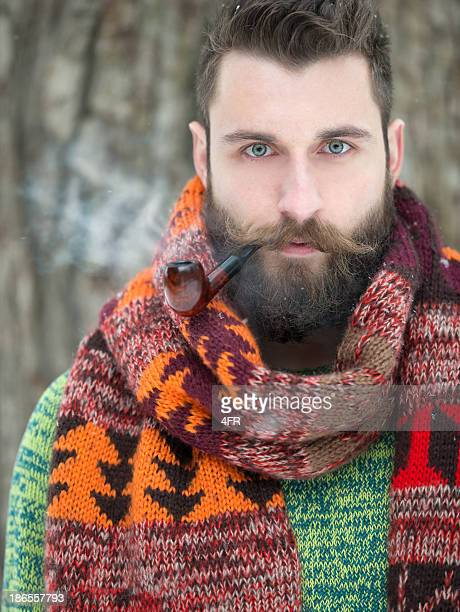 Man with Beard and Pipe