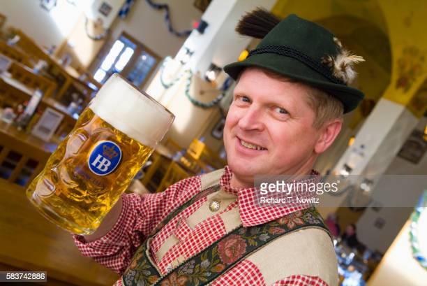 Man With Beer Mug at Hofbrauhaus