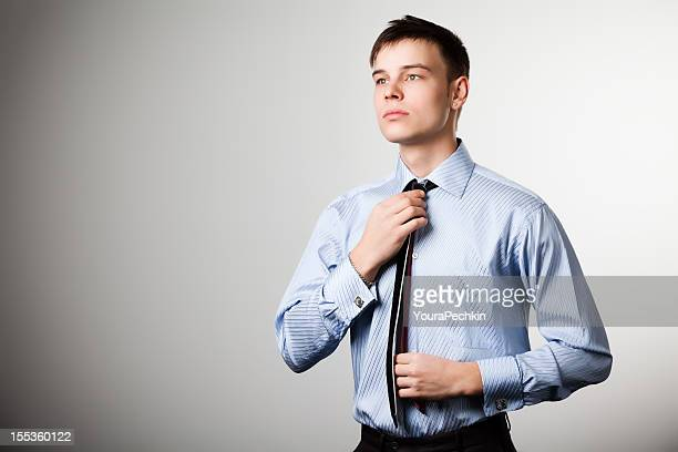 Man with blue shirt