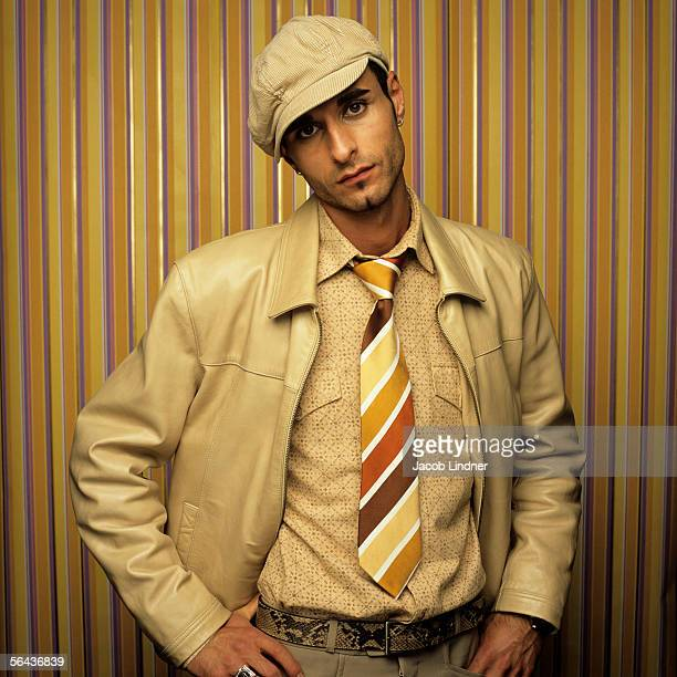Man with cap, retro style