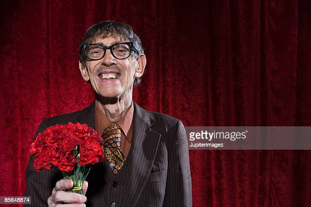 Man with carnations