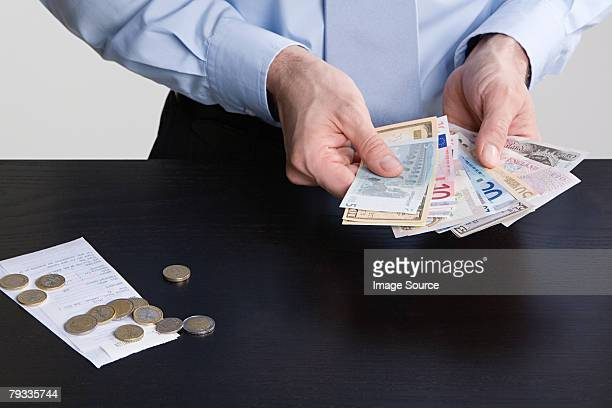 Man with currency