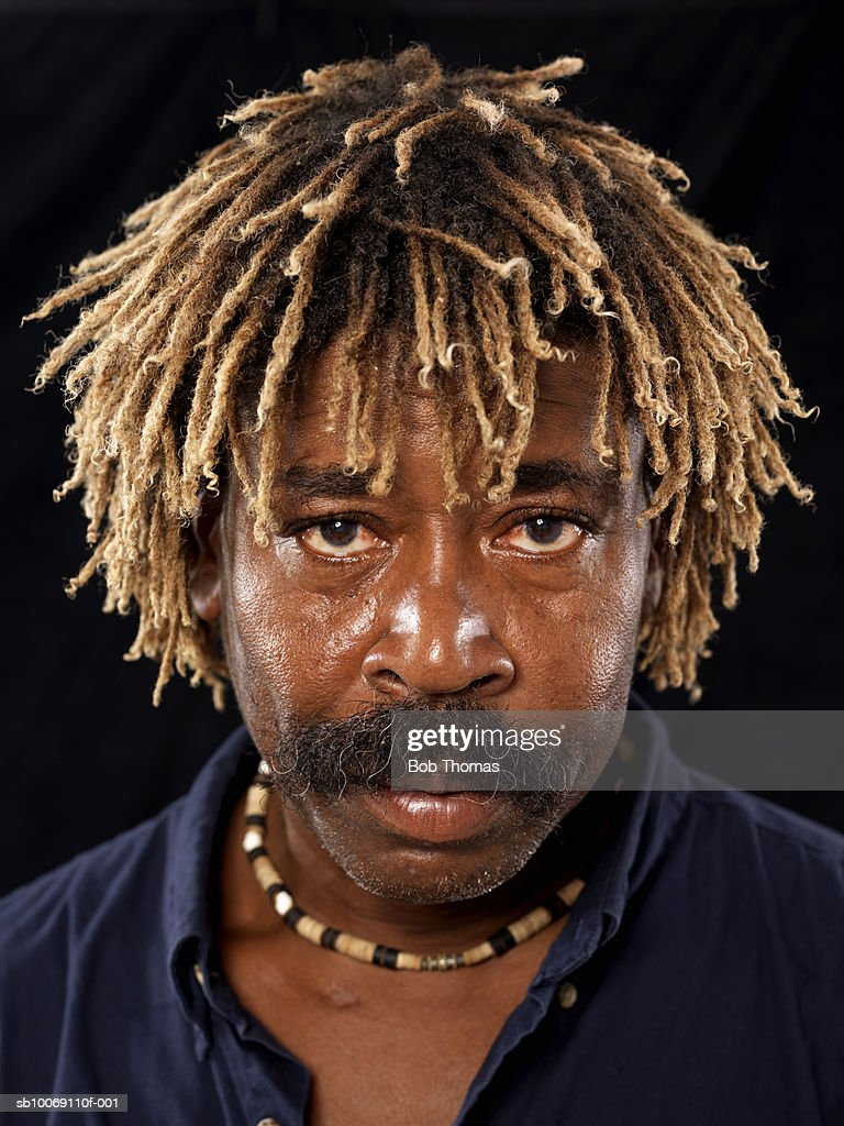 Man with dreadlocks, close-up, portrait : Stockfoto