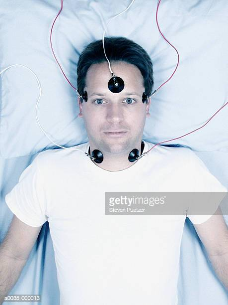 Man with Electrodes on Head