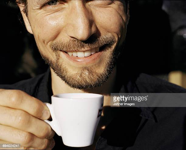 Man with espresso cup