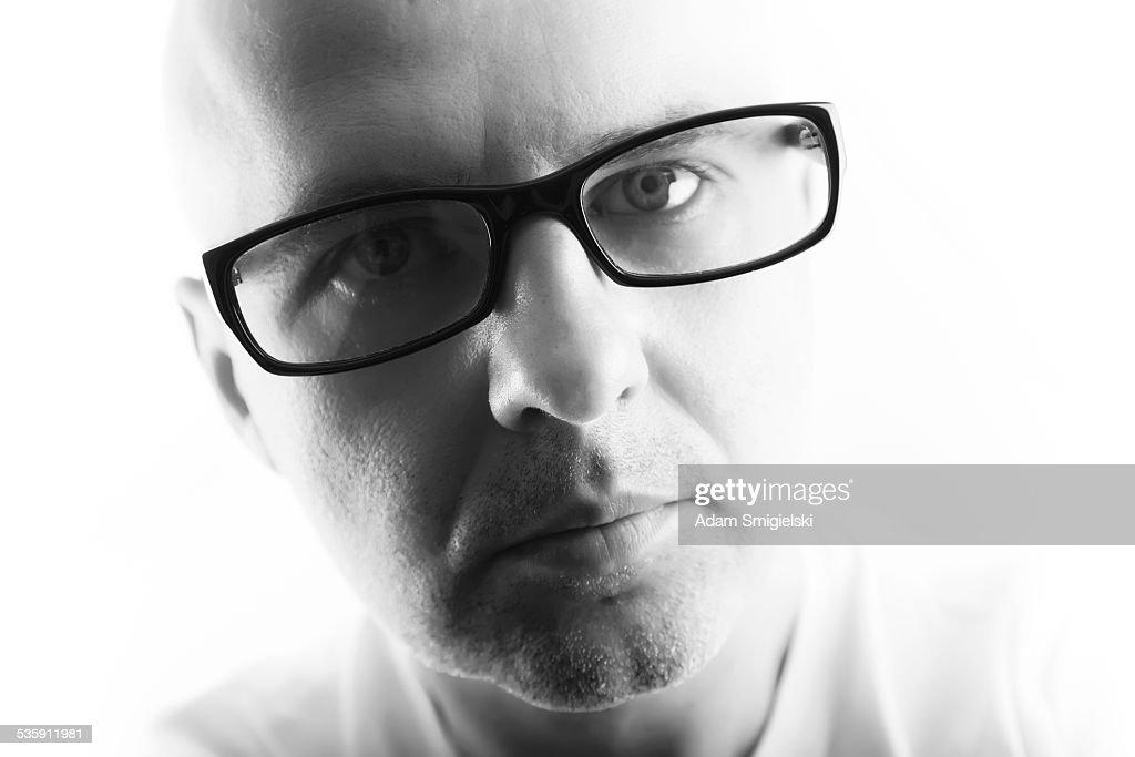 Hombre con gafas : Foto de stock