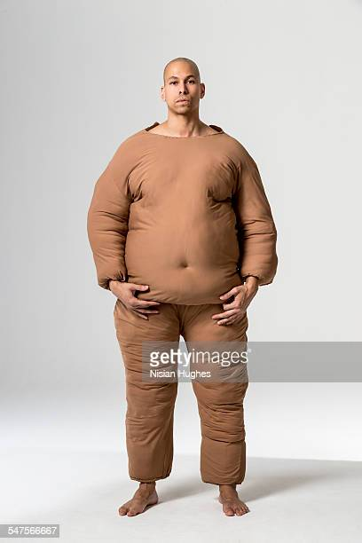 man with fat suit on
