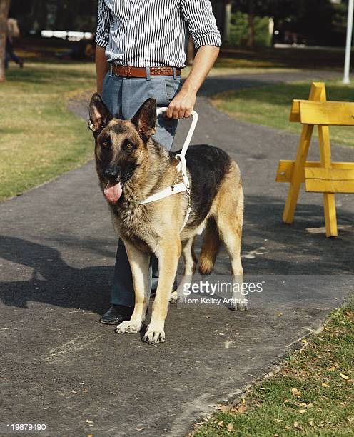 Man with guide dog