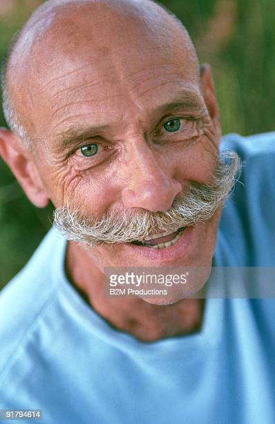 Man with handlebar mustache